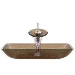 Polaris Sinks Glass Ensemble Model 150960221 Bathroom Sinks