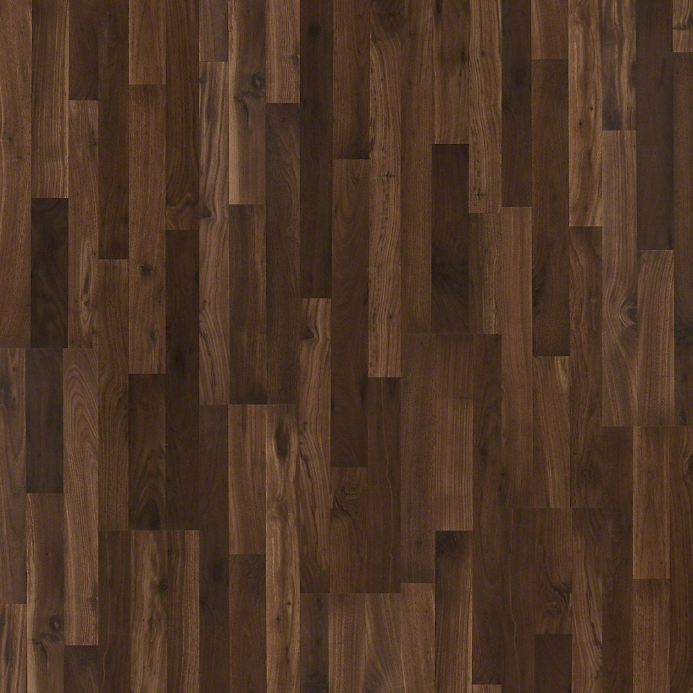 Shaw floors impressions laminate dark walnut 8 enhanced for Walnut laminate flooring