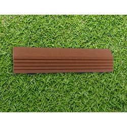 EP Decking Composite End Trim Piece Click lock ing Deck Tiles Mocha Model 151805481 Deck Tiles