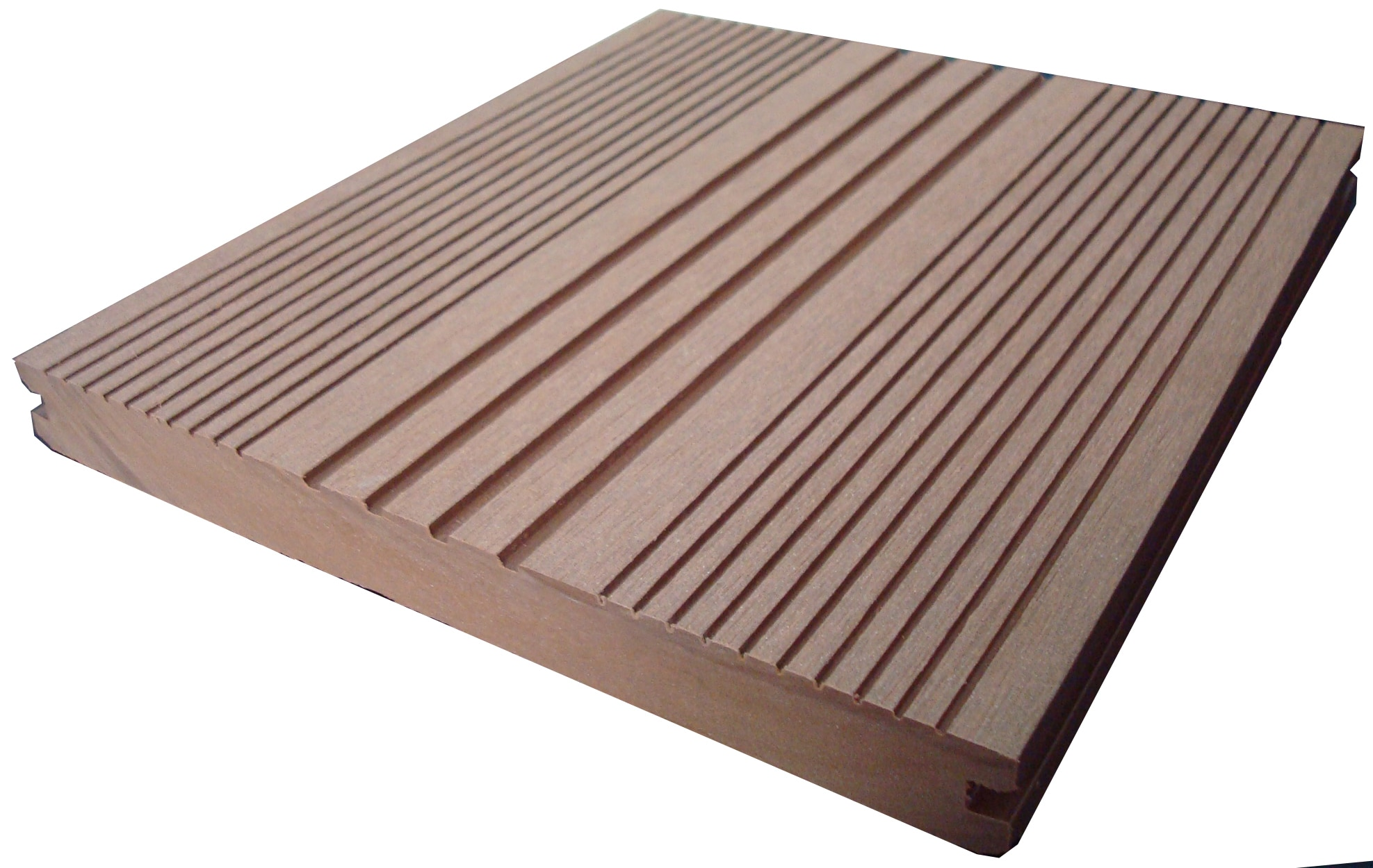Ep decking ep wood plastic composite decking mocha 7 1 8 for Timber decking thickness