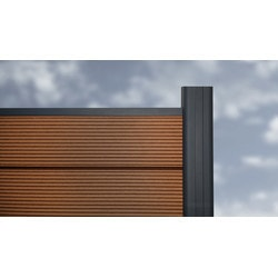 EP Decking EP Euro Style 6 ft H x 6 ft W Composite Fence kit with two posts Model 151808471 Landscape Fences