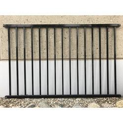 "EP Decking EP Aluminum 2 Rail ing baluster 48""x72"" Model 151106811 Deck Railings"