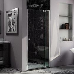 "DreamLine Allure 36 37"" Frameless Pivot Shower Door Clear Glass Door Model 151370221 Shower Doors"