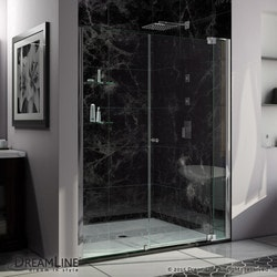 "DreamLine Allure 55 56"" Frameless Pivot Shower Door Clear Glass Door Type 151370411 Shower Doors in Canada"