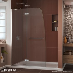 "DreamLine Aqua Ultra Frameless Hinged Door & SlimLine 34""x60"" Shower Base Type 151280761 Shower Enclosures in Canada"