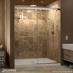 "DreamLine Charisma Frameless Bypass Sliding Door & SlimLine 34""x60"" Shower Base Type 151279011 Shower Enclosures in Canada"