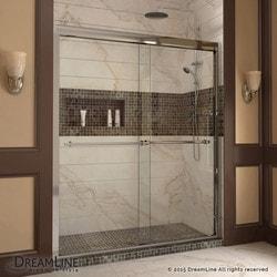 """DreamLine Duet Frameless Bypass Sliding Door & SlimLine 34""""x60"""" Shower Base Type 151279241 Shower Enclosures in Canada"""