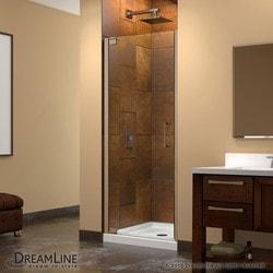 """DreamLine Elegance 34 36"""" Frameless Pivot Shower Door Type 151369851 Shower Doors in Canada"""