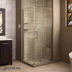 "DreamLine Elegance 34"" by 34"" Frameless Pivot Shower Enclosure II Type 151047731 Shower Enclosures in Canada"