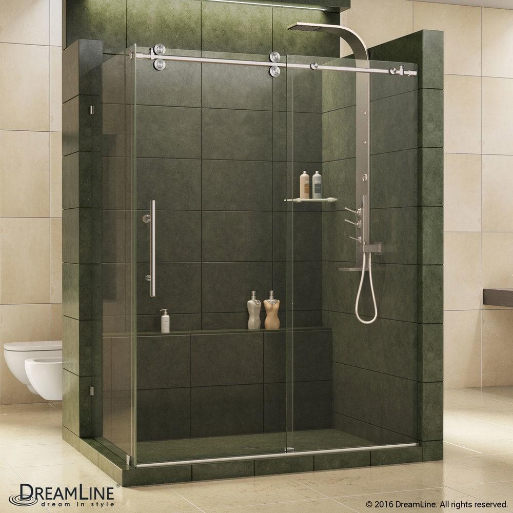 Dreamline enigma 36 by 60 1 2 fully frameless sliding for Fully enclosed shower