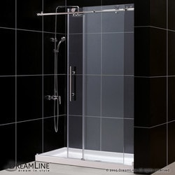 "DreamLine Enigma X Fully Frameless Sliding Door & SlimLine 30""x60"" Shower Base Type 151277561 Shower Enclosures in Canada"