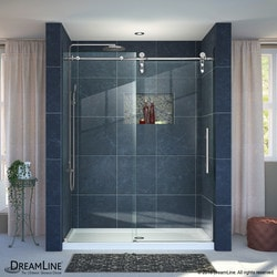 "DreamLine Enigma Z Fully Frameless Sliding Door & SlimLine 32""x60"" Shower Base Type 151277951 Shower Enclosures in Canada"