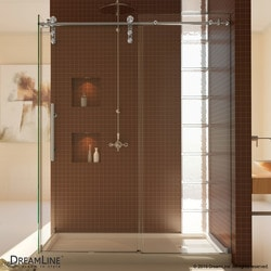 "DreamLine Enigma Z 34 1/2"" by 48 3/8"" Fully Frameless Sliding Shower Type 151047461 Shower Enclosures in Canada"