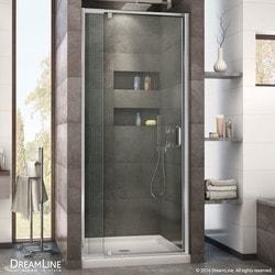 "DreamLine Flex 36""W x 36""D x 74 3/4"" H Frameless Door & Base Kit Model 151280971 Shower Enclosures"