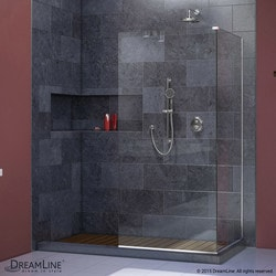 "DreamLine Linea Frameless Shower Door Two Attached Glass Panels 30"" x 72"" Type 151378331 Shower Doors in Canada"