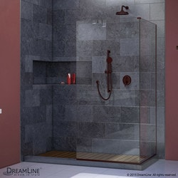 "DreamLine Linea Frameless Shower Door Two Attached Glass Panels 30"" x 72"" Type 151378351 Shower Doors in Canada"