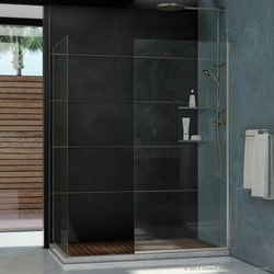 "DreamLine Linea Frameless Shower Door 2 Glass Panels 30"" x 72"" & 34"" x 72"" Type 151378521 Shower Doors in Canada"