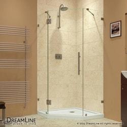 """DreamLine Prism Lux 40 3/8"""" by 40 3/8"""" Frameless Hinged Shower Enclosure Model 151047861 Shower Enclosures"""