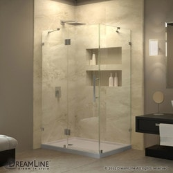 "DreamLine Quatra Lux 32 1/4"" by 46 5/16"" Frameless Hinged Shower Enclosure Type 151047941 Shower Enclosures in Canada"