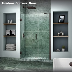 "DreamLine Unidoor 42"" 43"" Frameless Hinged Shower Door Type 151371271 Shower Doors in Canada"