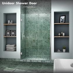 """DreamLine Unidoor 43"""" 44"""" Frameless Hinged Shower Door Type 151371341 Shower Doors in Canada"""
