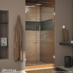 """DreamLine Unidoor Lux 41"""" Frameless Hinged Shower Door Type 151373201 Shower Doors in Canada"""