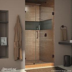 """DreamLine Unidoor Lux 42"""" Frameless Hinged Shower Door Model 151374001 Shower Doors"""