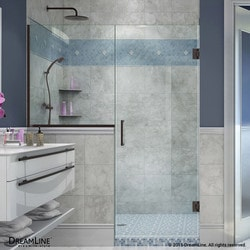 "DreamLine Unidoor Plus 59 5"" W x 72"" H Hinged Shower Door V Type 151379101 Shower Doors in Canada"