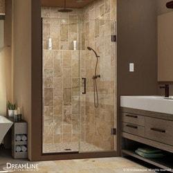 """DreamLine Unidoor Plus 54"""" 54 5"""" W x 72"""" H Hinged Shower Door Type 151375801 Shower Doors in Canada"""