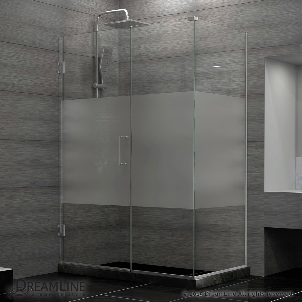Dreamline 60 1 2 w x 34 3 8 d x 72 h hinged shower half for 12 x 60 window