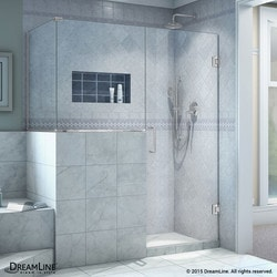 "DreamLine Unidoor Plus 58""W x 30 375""D x 72""H Hinged Shower Enclosure Type 151057721 Shower Enclosures in Canada"