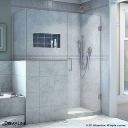 "DreamLine Unidoor Plus 59""W x 30 375""D x 72""H Hinged Shower Enclosure Type 151058091 Shower Enclosures in Canada"