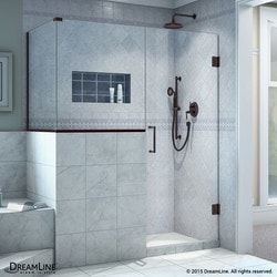 "DreamLine Unidoor Plus 46""W x 36 375""D x 72""H Hinged Shower Enclosure Type 151057591 Shower Enclosures in Canada"