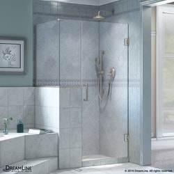 "DreamLine Unidoor Plus 36""W x 30 375""D x 72""H Hinged Shower Enclosure Type 151056651 Shower Enclosures in Canada"