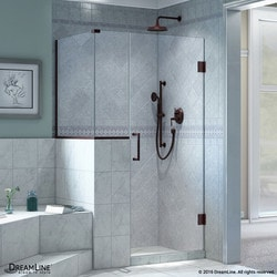 "DreamLine Unidoor Plus 35""W x 36 375""D x 72""H Hinged Shower Enclosure Type 151056061 Shower Enclosures in Canada"