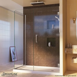"DreamLine Unidoor Plus 54""W x 30 3/8""D x 72""H Hinged Shower Enclosure Type 151051221 Shower Enclosures in Canada"
