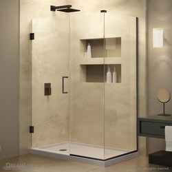 "DreamLine Unidoor Plus 44""W x 34 3/8""D x 72""H Hinged Shower Enclosure Type 151050121 Shower Enclosures in Canada"