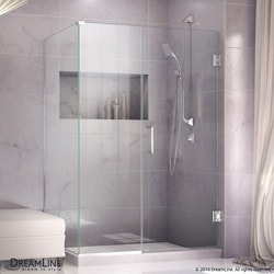 "DreamLine Unidoor Plus 58""W x 30 3/8""D x 72""H Hinged Shower Enclosure Type 151051451 Shower Enclosures in Canada"