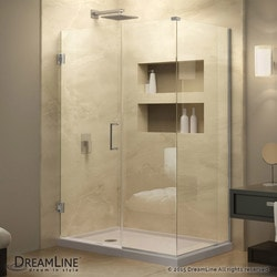"DreamLine Unidoor Plus 32 1/2""W x 34 3/8""D x 72""H Hinged Shower Enclosure Type 151048721 Shower Enclosures in Canada"