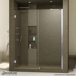 """DreamLine Unidoor 51"""" 52"""" Frameless Hinged Shower Door Type 151371641 Shower Doors in Canada"""
