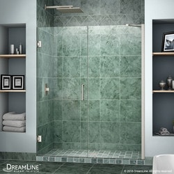 "DreamLine Unidoor 54"" 55"" Frameless Hinged Shower Door II Type 151371801 Shower Doors in Canada"
