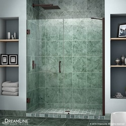 "DreamLine Unidoor 51"" 52"" Frameless Hinged Shower Door Type 151371661 Shower Doors in Canada"