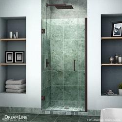 """DreamLine Unidoor 33"""" 34"""" Frameless Hinged Shower Door Type 151370941 Shower Doors in Canada"""
