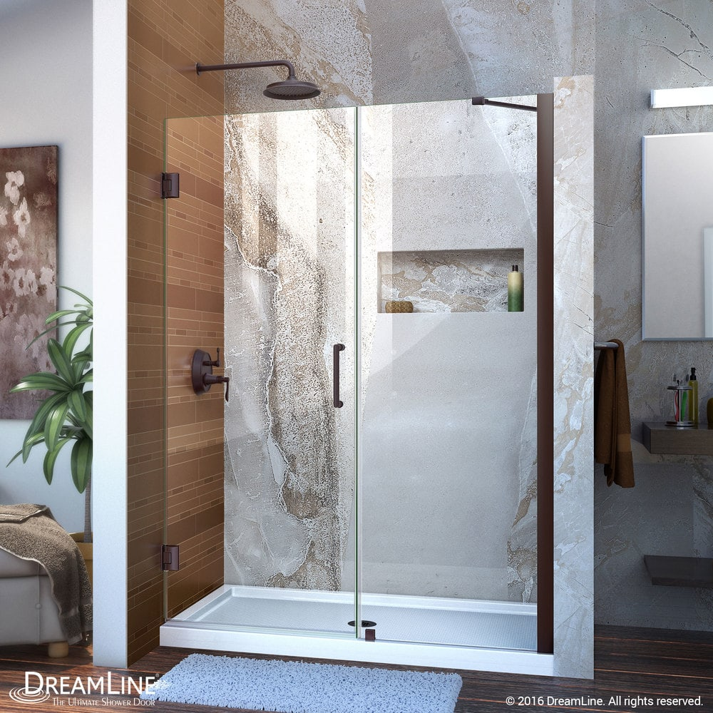 Dreamline Unidoor 53 Quot 54 Quot Frameless Hinged Shower Door