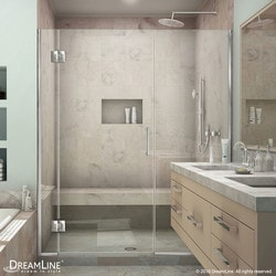 """DreamLine Unidoor X 52 1/2 53"""" W x 72"""" H Hinged Shower Door Type 151379651 Shower Doors in Canada"""