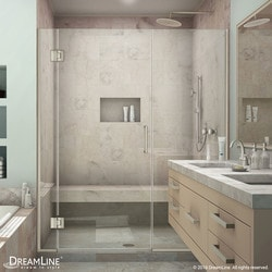 "DreamLine Unidoor X 35 5"" 36"" W x 72"" H Hinged Shower Door Type 151379301 Shower Doors in Canada"