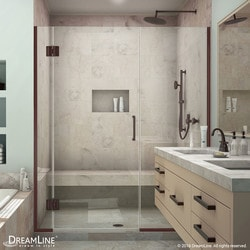 "DreamLine Unidoor X 41 1/2 42"" W x 72"" H Hinged Shower Door Type 151380751 Shower Doors in Canada"