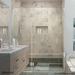 "DreamLine Unidoor X 72 5"" W x 72"" H Hinged Shower Door Type 151381721 Shower Doors in Canada"