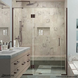 "DreamLine Unidoor X 54 5"" W x 72"" H Hinged Shower Door II Type 151381381 Shower Doors in Canada"