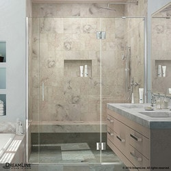 "DreamLine Unidoor X 58 1/2 59"" W x 72"" H Hinged Shower Door III Type 151382951 Shower Doors in Canada"